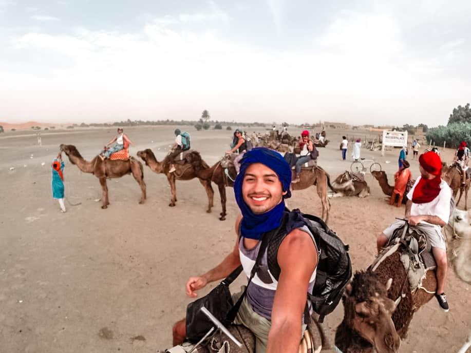 Entrada do deserto do Saara