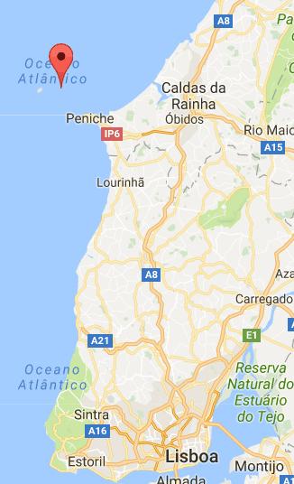 mapa onde fica peniche em portugal