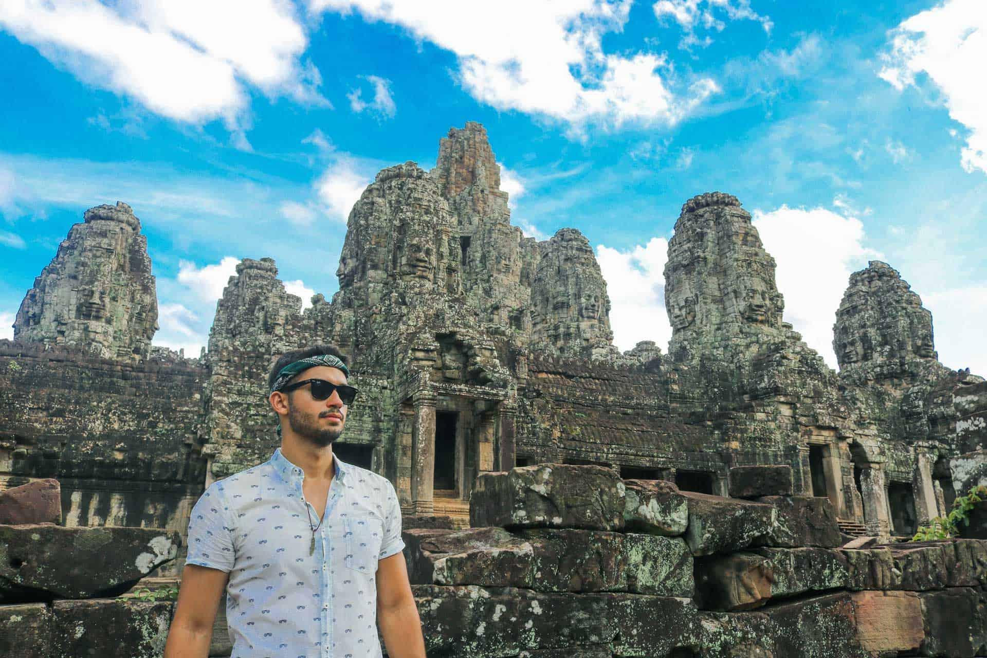 Temple d'Angkor Wat, Siem Reap, CAMBODGE – Juin 2017