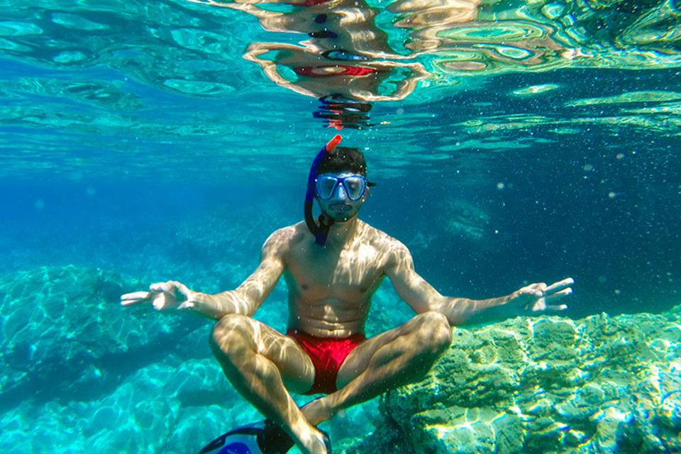 Meditação guiada e mergulho