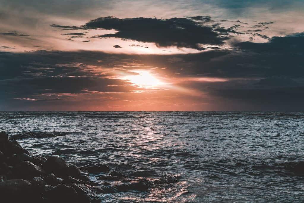 Nascer do sol na ilha de Koh Samui