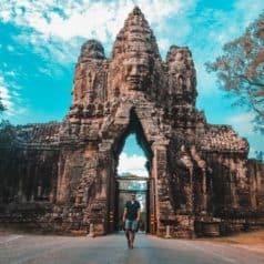 Porte d'entrée des temples de Siem Reap