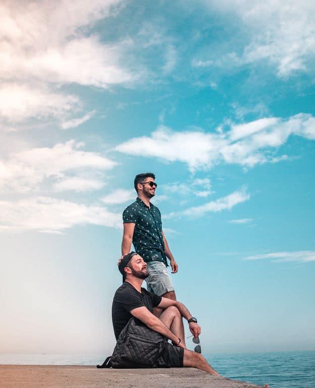 Blogueiro gay de viagem e influenciadores Instagram