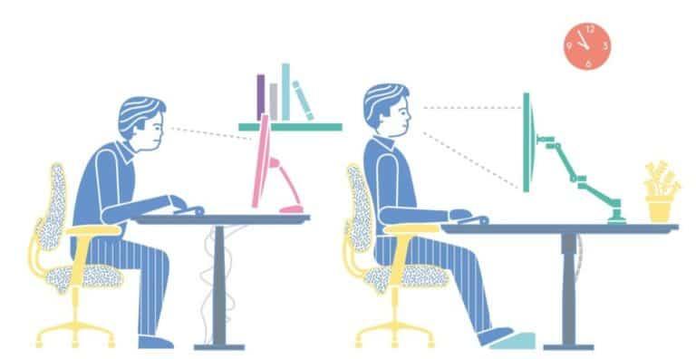 ergonomie poste de travail informatique