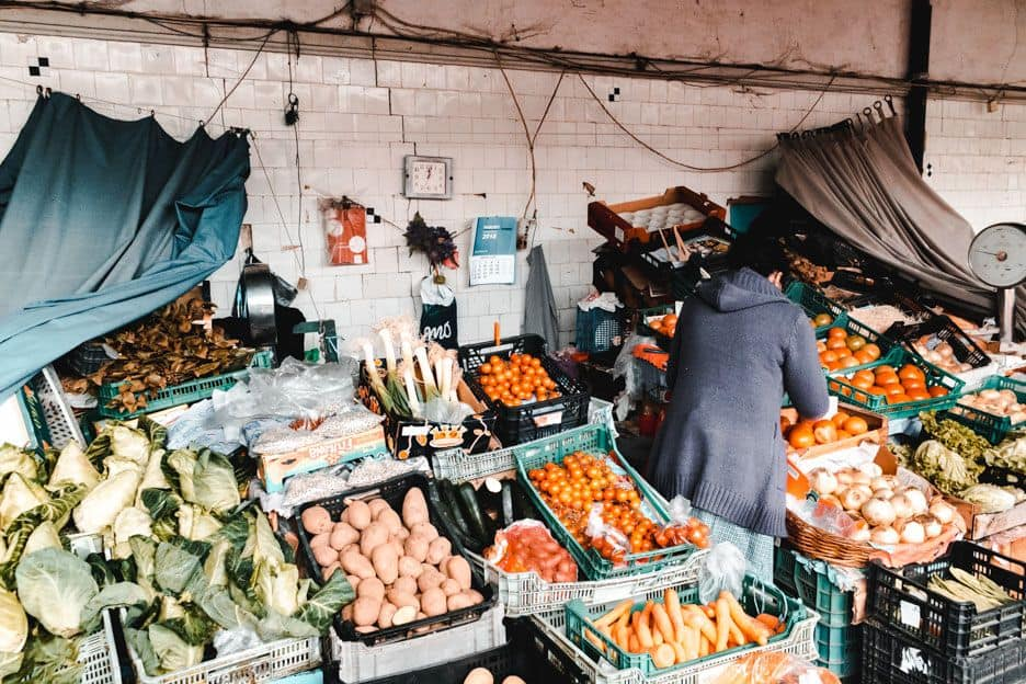 Mercado do Bolhao em Porto Portugal