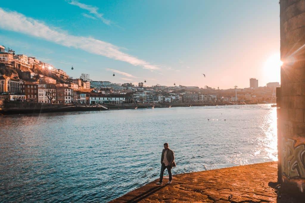 Rio Douro em Porto Portugal