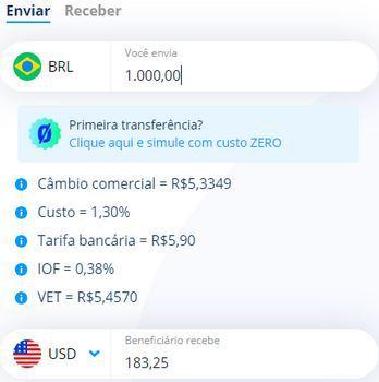 Receber dinheiro do exterior com Remessa online